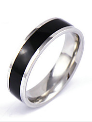 cheap -Men's Silver Black Gold Crystal Alloy Band Ring Gifts