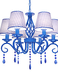 cheap -Mediterranean style crystal droplight wrought iron bedroom/study/crystal blue