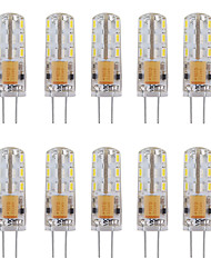 cheap -10pcs 1W 460 lm G4 LED Bi-pin Lights Tube 24 leds SMD 3014 Decorative Warm White Cold White AC 12V DC 12V