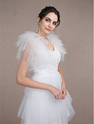 Wedding  Wraps Shrugs Sleeveless Tulle Ivory Wedding Party/Evening Tiered Open Front