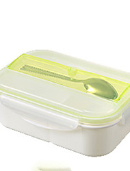 cheap -1PC Random Color Kitchenware Pupillary Adult Heat Resisting High Quality Large Capacity Plastic Bento Box