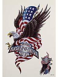 Недорогие -1 Временные тату Тату с животными eagles Вспышка татуировки Временные татуировки