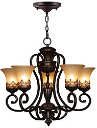 cheap -Ecolight™ Vintage Chandelier Ambient Light - Candle Style, 110-120V 220-240V Bulb Not Included