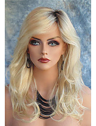 cheap -Long wavy Synthetic Hair Blonde Wig For Women Fashion Wig Heat Resistant