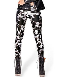 cheap -Women's Going Out Daily Stretchy High Street Print Legging,Polyester