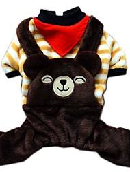 Gatti / Cani Costumi / Cappottini / Tuta / Pantalone / Imbracature Beige Abbigliamento per cani Inverno / Primavera/AutunnoFantasia