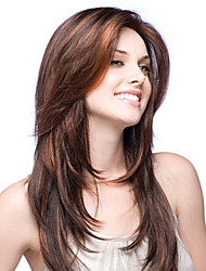 cheap -Premierwigs Fashion Straight Natural Color Brazilian Virgin Glueless Full Lace Wigs Silk Base Lace Front Wigs