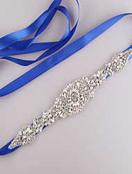 cheap -Satin Wedding Party / Evening Dailywear Sash With Rhinestone Beading Women's Sashes