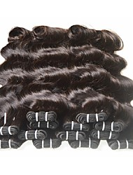 cheap -Brazilian Hair Body Wave Unprocessed Human Hair / Virgin Human Hair / Remy Human Hair Natural Color Hair Weaves 6 Bundles 8-24 inch Human Hair Weaves Women / For Black Women / 7a Natural Black Human