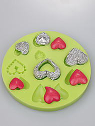 New product chocolate mold love heart shape for fondant cake decoration tools food grade silicone