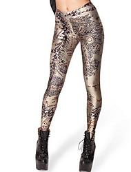 pantalons de fond d'impression de couleur de carte du monde de la version européenne et américaine de la carte petit pied neuf femmes