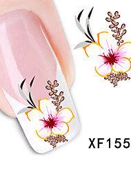 cheap -New Fashion Water Transfer Flower Decal Women Stickers Nail Art Acrylic Manicure Tips DIY Sell Hotting