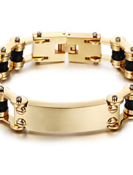 cheap -Kalen New 18K Dubai Gold Plated Men's Bracelet 316L Stainless Steel Link Chain&Leather Bracelet Fashion Male Accessories Christmas Gifts