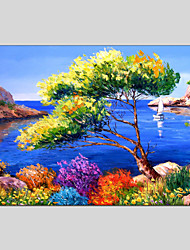 cheap -Landscape Canvas Material Oil Paintings with Stretched Frame Ready To Hang Size 60*90CM