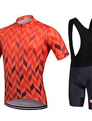 cheap -Cycling Jersey with Bib Shorts Men's Women's Unisex Short Sleeves Bike Bib Shorts Bib Tights Sweatshirt Jersey Clothing Suits Bike Wear