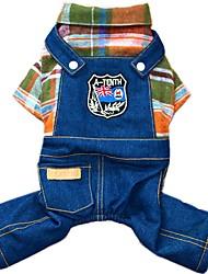 preiswerte -Hund Overall Jeansjacken Hundekleidung Cowboy Modisch Jeans Orange Rose Kostüm Für Haustiere