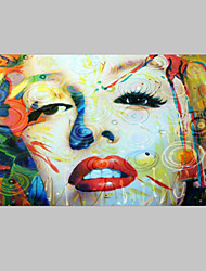 cheap -Hand-Painted People 100% Hang-Painted Oil Painting,Classic / Traditional One Panel Canvas Oil Painting For Home Decoration