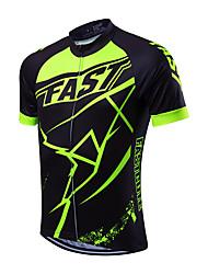 Fastcute Maglia da ciclismo Per uomo Manica corta Bicicletta Maglietta/Maglia Asciugatura rapida Traspirante Coolmax Classico Primavera