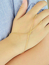 cheap -Gold Silver Color Thin Chain Link Bracelets
