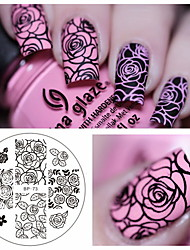cheap -1 pcs Stamping Plate Template Nail Art Design Fashionable Design Stylish / Fashion Daily / Steel
