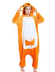 Недорогие -Кигуруми Пижамы Кенгуру трико/Комбинезон-пижама Фестиваль / праздник Нижнее и ночное белье животных Хэллоуин Оранжевый Флис Кигуруми Для