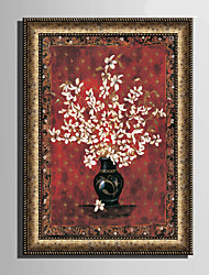 cheap -E-HOME® Framed Canvas Art, Flower In Vase Framed Canvas Print One Pcs