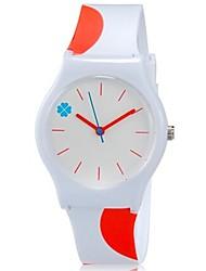 abordables -Reloj de Pulsera Cool / Colorido Plastic Banda Caramelo / Casual Naranja