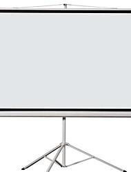 cheap -100 inch 4 3 Bracket Folding Screen Projector Screen HD 3D Home Projector Screen White Plastic Curtain