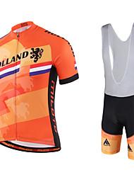 Miloto Cycling Jersey with Bib Shorts Men's Short Sleeves Bike Bib Shorts Shirt Sweatshirt Jersey Bib Tights Clothing Suits Quick Dry