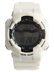 Недорогие -Муж. Спортивные часы электронные часы Кварцевый Цифровой Защита от влаги / Plastic Группа На каждый день Белый