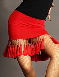 preiswerte -Latein-Tanz Balletröckchen und Röcke Damen Leistung Viskose Quaste Ärmellos Normal Rock