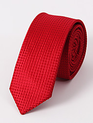 cheap -Men's Polyester Cotton Blend Neck Tie,Vintage Party Work Casual Solid Winter Spring Summer Fall All Seasons Red