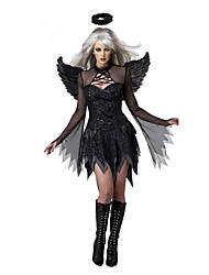 Angel/Devil Cosplay Costumes Party Costume Female Halloween Festival/Holiday Halloween Costumes Black Patchwork