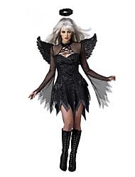 Angelo e diavolo Costumi Cosplay Vestito da Serata Elegante Donna Halloween Feste/vacanze Costumi Halloween Nero Collage