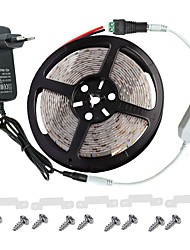 cheap -LED Light Strip Kit -3528 -300 LEDs IP65 Includes 3A Power Supply (36 Watt) and Dimmer - LED Tape Light Connector
