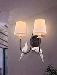 væglampe retro kreativ amerikansk sengelampe at varme soveværelse væg dobbelt fugl