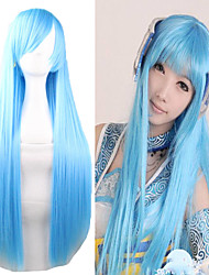 Cheap 80CM Long Length Light Blue Silky Miku Cosplay Lolita Wig