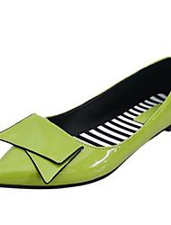 Для женщин Обувь Дерматин Весна Лето Осень Зима Удобная обувь На плокой подошве На плоской подошве Бант Назначение Повседневные Черный