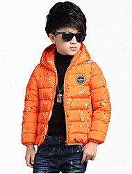 preiswerte -Jungen Daunen & Baumwoll gefüttert / Anzug & Blazer-Lässig/Alltäglich einfarbig Polyester Winter / Frühling / HerbstSchwarz / Orange /