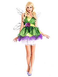 Princesse Conte de Fée Costumes de Cosplay Costume de Soirée Féminin Halloween Carnaval Fête / Célébration Déguisement d'Halloween Vert