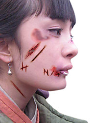 cheap -5pcs Halloween Zombie Scars Tattoos With Fake Scab Blood Special Fx Costume Makeup