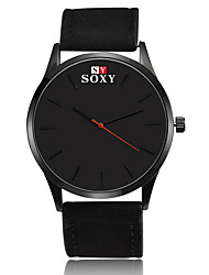 cheap -SOXY Men's Quartz Wrist Watch / Casual Watch Leather Band Casual Dress Watch Fashion Black Brown