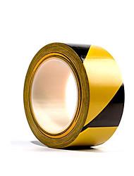 duas fitas 48 milímetros * 16m preto e amarelo assoalho zebra por embalagem
