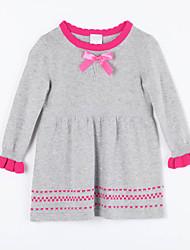 preiswerte -Kleid Pullover & Cardigan Alltag Solide Baumwolle Herbst Grau