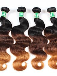 economico -Ambra Brasiliano Ondulato naturale 6 mesi 4 pezzi tesse capelli