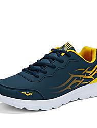 Masculino-Tênis-Conforto-Rasteiro-Preto Azul Cinza-Courino-Ar-Livre Casual Para Esporte
