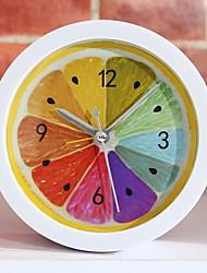 cheap -New Style Rural Cool Lemon Fruit Alarm Clock Modern Minimalist Desktop Clocks Lazy Watch Clock