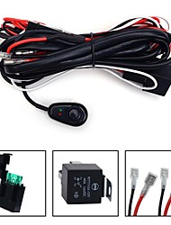 KAWELL Universal 2 lead LED Light Bar Wiring Harness Kit with Fuse Relay ON / OFF Switch for LED Offroad Driving light LED lamp fog light work light
