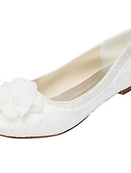 cheap -Women's Flats Spring / Summer Others Stretch Satin Wedding / Party & Evening / Dress Flat Heel Applique Ivory / White Others