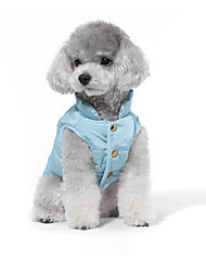 cheap -Dog Sweatshirt Puffer / Down Jacket Dog Clothes Angel & Devil Green Blue Cotton Costume For Pets Men's Women's Casual/Daily Fashion